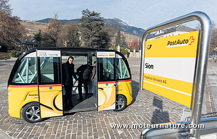 Navette électrique autonome Navya Arma à Sion