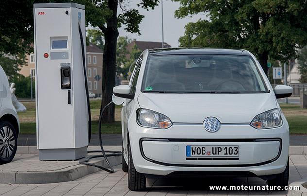 Volkswagen e-up! sur une borne rapide CCS Combo 2