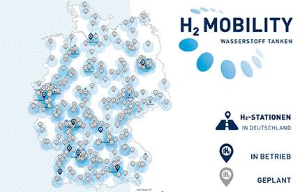 carte station hydrogene france 400 stations d'hydrogène en Allemagne