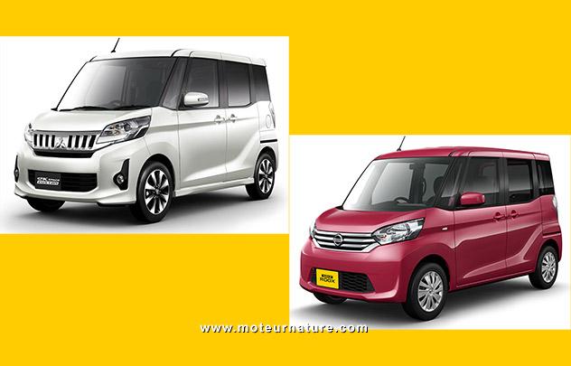 Mitsubishi eK Space et Nissan Dayz Roox