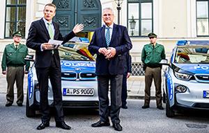 La police de Munich en BMW i3