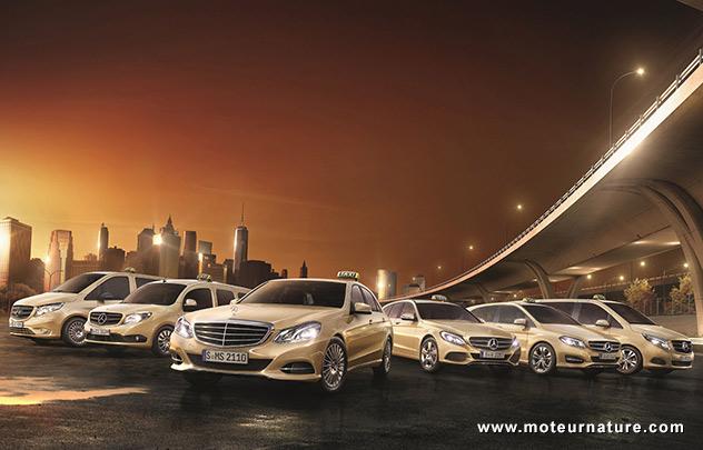 Mercedes à Francfort: un stand taxi
