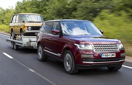 Range Rover avec remorque transparente