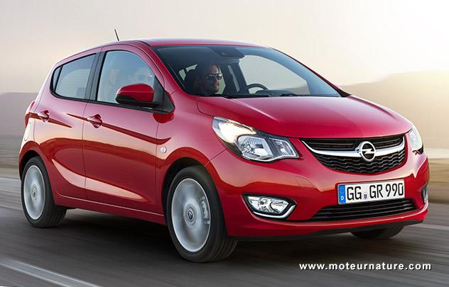 L'Opel Karl descend à 94g/km de CO2
