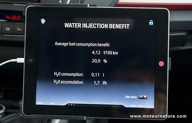 Prototype BMW avec injection d'eau