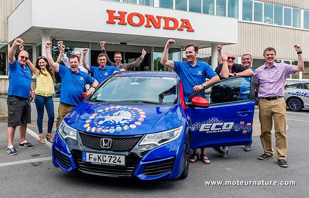 Record de sobriété pour la Honda Civic Tourer