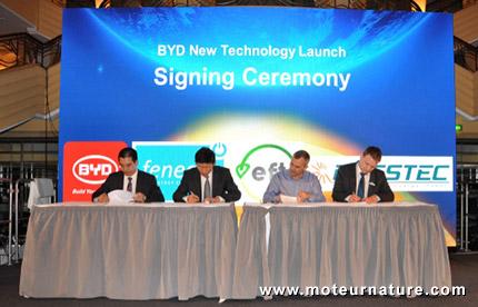 BYD signe un contrat pour une batterie stationnaire de 150 MWh