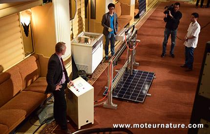 Test de résistance des panneaux solaires BYD