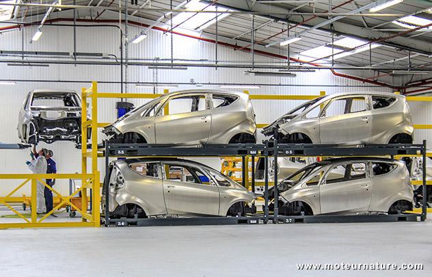 La Bluecar de Bollore en production a l'usine de Dieppe