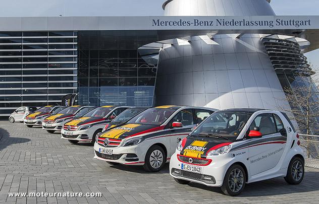 Voitures électriques d'auto-école à Stuttgart