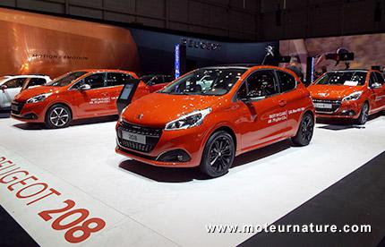 La Peugeot 208 au salon de Genève
