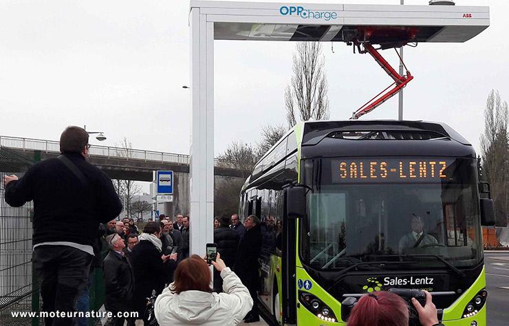 Autosbus en charge 150 kW avec ABB