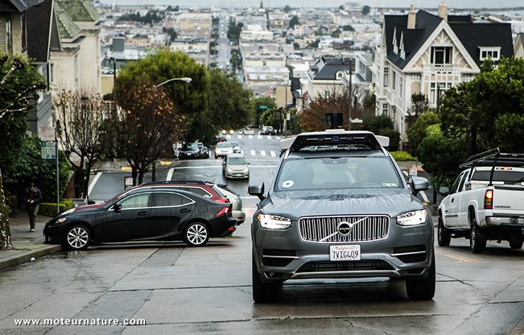 Voiture autonome Uber à San Francisco