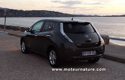 Nissan Leaf en Corse
