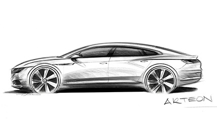 Esquisse Volkswagen Arteon