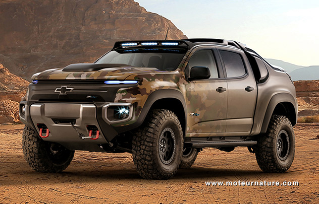 Chevrolet Colorado ZH2 Hydrogen Fuel Cell Electric Vehicle