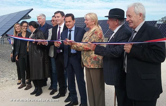 Inauguration centrale solaire CNR à Donzère