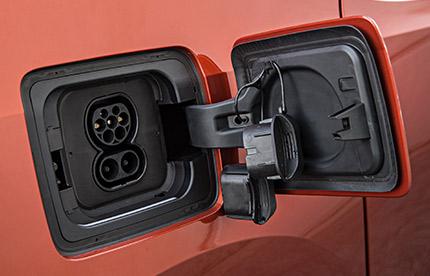 Prise de charge d'une voiture électrique BMWi