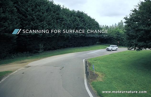 Land Rover terrain scanning