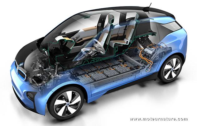 BMw i3 électrique avec batterie de 33 kWh