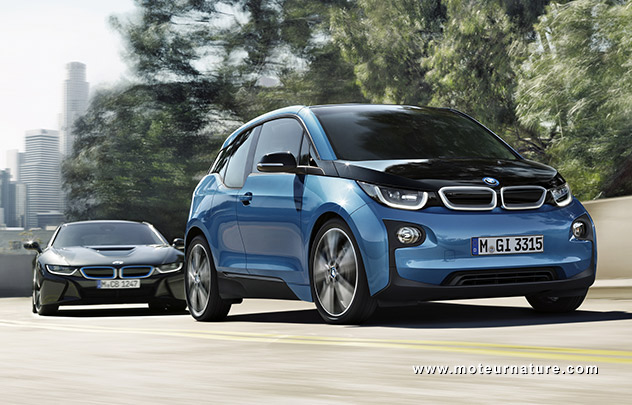 bmw i3 300 km d 39 autonomie avec une batterie de 33 kwh. Black Bedroom Furniture Sets. Home Design Ideas
