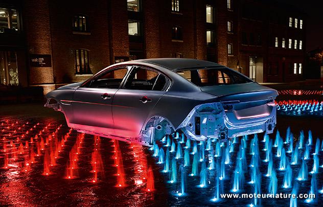 Coque aluminium de Jaguar XE