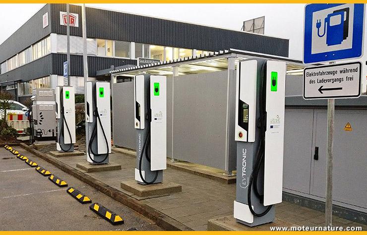 Bornes de recharge Allego 175 kW