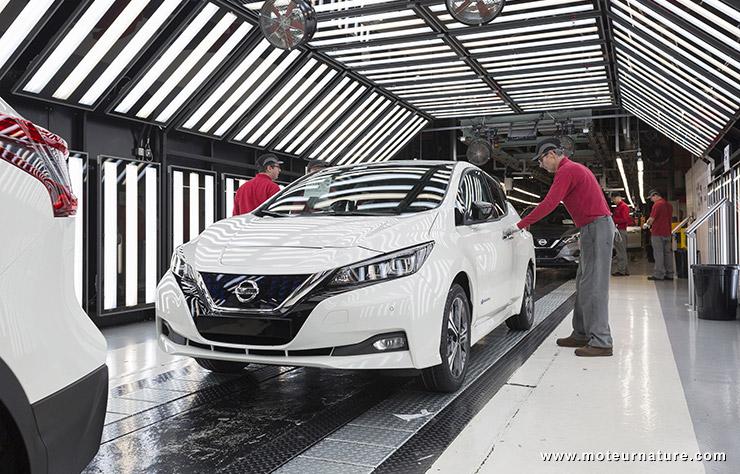 Nissan Leaf construite à Sunderland