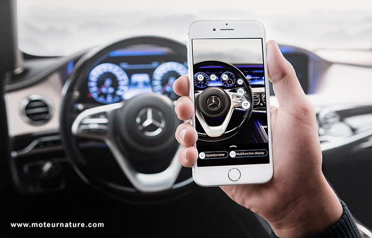 Réalité augmentée chez Mercedes