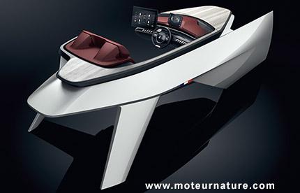 Le Sea Drice Concept de Peugeot et Beneteau