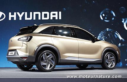 Hyundai SUV nouvelle génération à pile à combustible à hydrogène