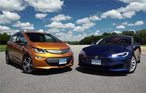 Autonomie: la Chevrolet Bolt meilleure que la Tesla ModelS 75D