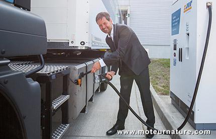Camion électrique M.A.N. chez Porsche