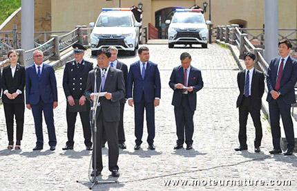 Mitsubishi Outlander hybride rechargeable pour la police de l'Ukraine