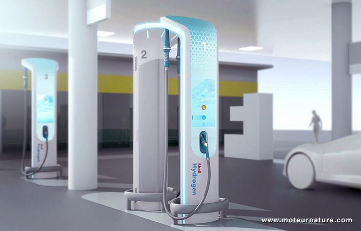 Station d'hydogène Shell designée par BMW