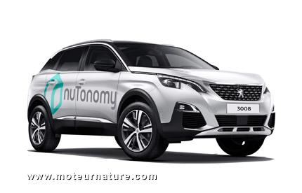 Peugeot 3008 autonome pour nuTonomy