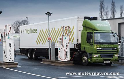 Camions Scania au biométhane de Waitrose