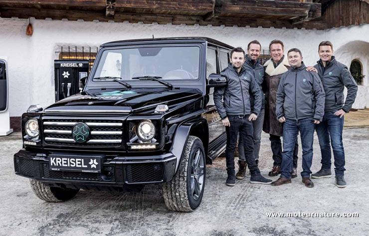 Mercedes G électrique par Kreisel pour Schwarzenegger