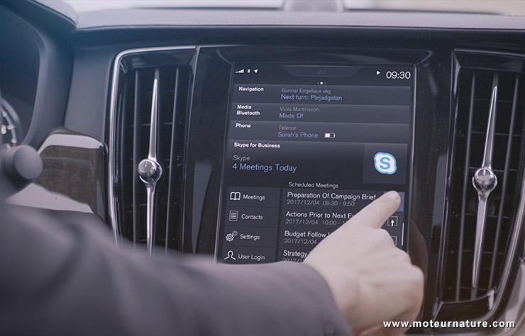 Skype dans une Volvo