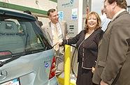 Gerhard Schroeder en auto à PAC
