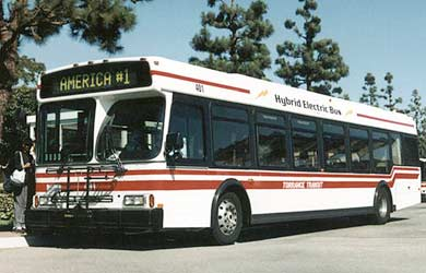 Bus hybride californien