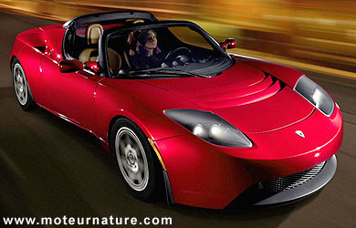 le roadster tesla une voiture de sport lectrique anglo. Black Bedroom Furniture Sets. Home Design Ideas