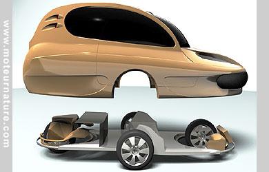 assystem city car prototype de voiture hybride essence lectrique fran ais. Black Bedroom Furniture Sets. Home Design Ideas