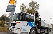 Camion Mercedes au biogaz en Suède