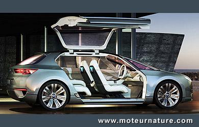 concept subaru tourer hybride 2 immenses porti res et 2 petits moteurs lectriques. Black Bedroom Furniture Sets. Home Design Ideas