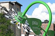Fleur solaire pour promouvoir la Prius