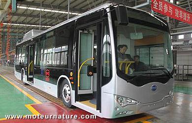 Electrique grâce à BYD, et en aluminium avec Alcoa, c'est un autobus