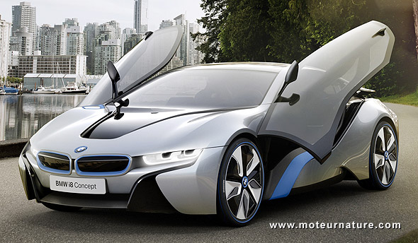 les promesses de la bmw i8 hybride rechargeable enthousiasme et questions. Black Bedroom Furniture Sets. Home Design Ideas