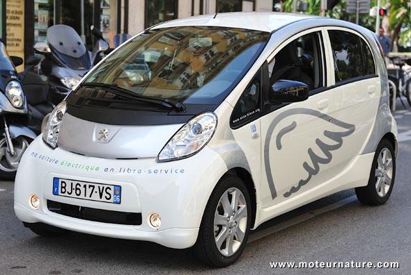 Auto Bleue, autopartage à Nice