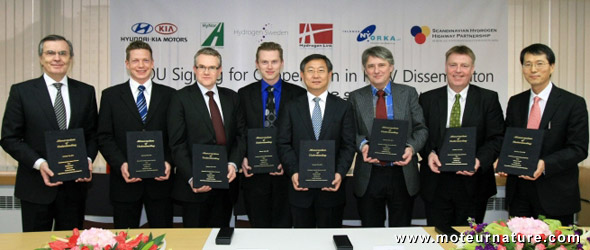 Hyundai et desreprésentants de Norvége, Suède et du Danemark